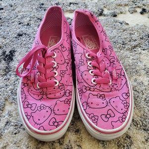 Pink hello kitty Vans size 6.5